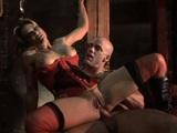 Blond�nka v korzetu je an�ln� zneu��v�na v mu��rn� - freevideo