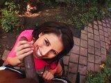 Dráždivá třicítka pocákána černou hadicí do obličeje - freevideo